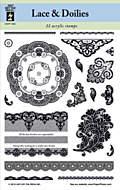 Lace & Doilies Stamp Sara Naumann Create & Craft