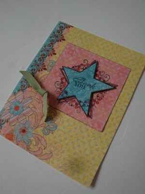 Sara Naumann blog Create & Craft stamped card complete