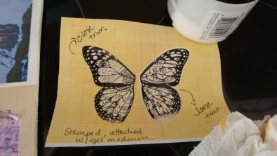 Sara Naumann blog Lazertran class Art & Soul stamped