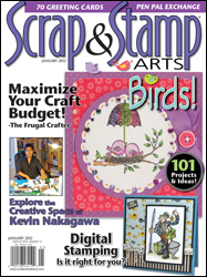 Sara Naumann blog Stamp & Scrap Arts magazine