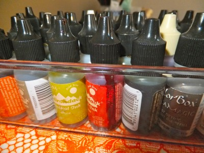 Sara Naumann blog Creative Workshops alcohol ink bottles