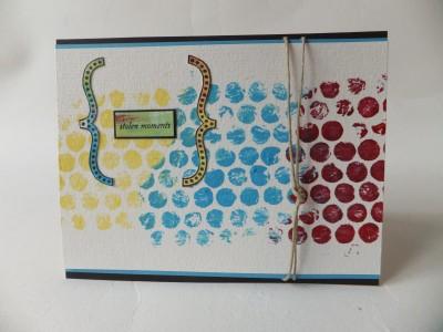 Sara Naumann blog Bubble Wrap card
