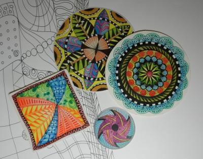 Sara Naumann blog Suzanne McNeill A&S 2013 Zentangle - colors 2