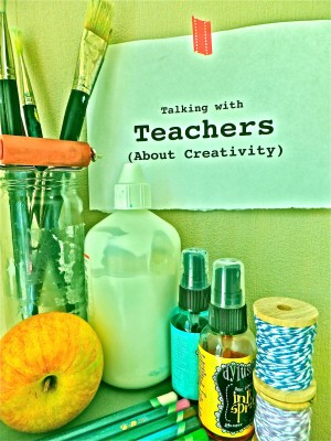 Sara Naumann blog talking with teachers