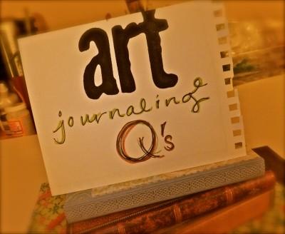 Sara Naumann blog header art journaling q's