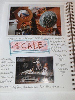 Sara Naumann art journaling blog scale