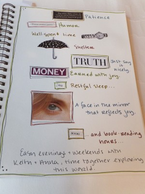 Sara Naumann art journaling page 2