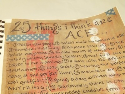 Sara Naumann blog art journaling 25 things I think are ace