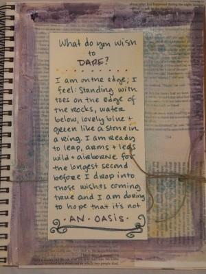 Sara Naumann blog art journaling page