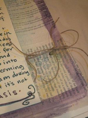 Sara Naumann blog art journaling tie