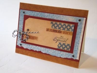Sara Naumann blog washi tape and tea dyed card