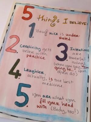 Sara Naumann art journaling question prompts