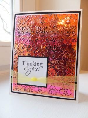 Sara Naumann blog Shimmer Sheetz card project