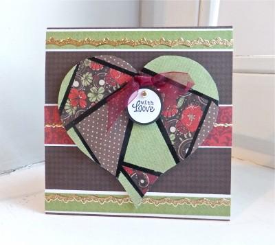 Sara Naumann blog faux mosaic paper