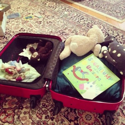 Sara Naumann bags packed