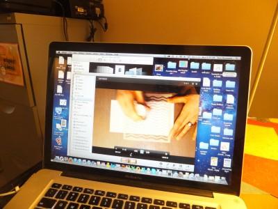 Sara Naumann watching video