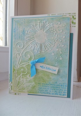 Sara Naumann blog Distress Embossing