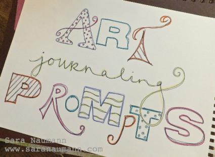 Art Journaling Prompt Quickie Quotes Sara Naumann Studio Sn