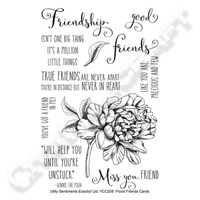 My Sentiments Exactly Floral Friends stamp set Create and Craft