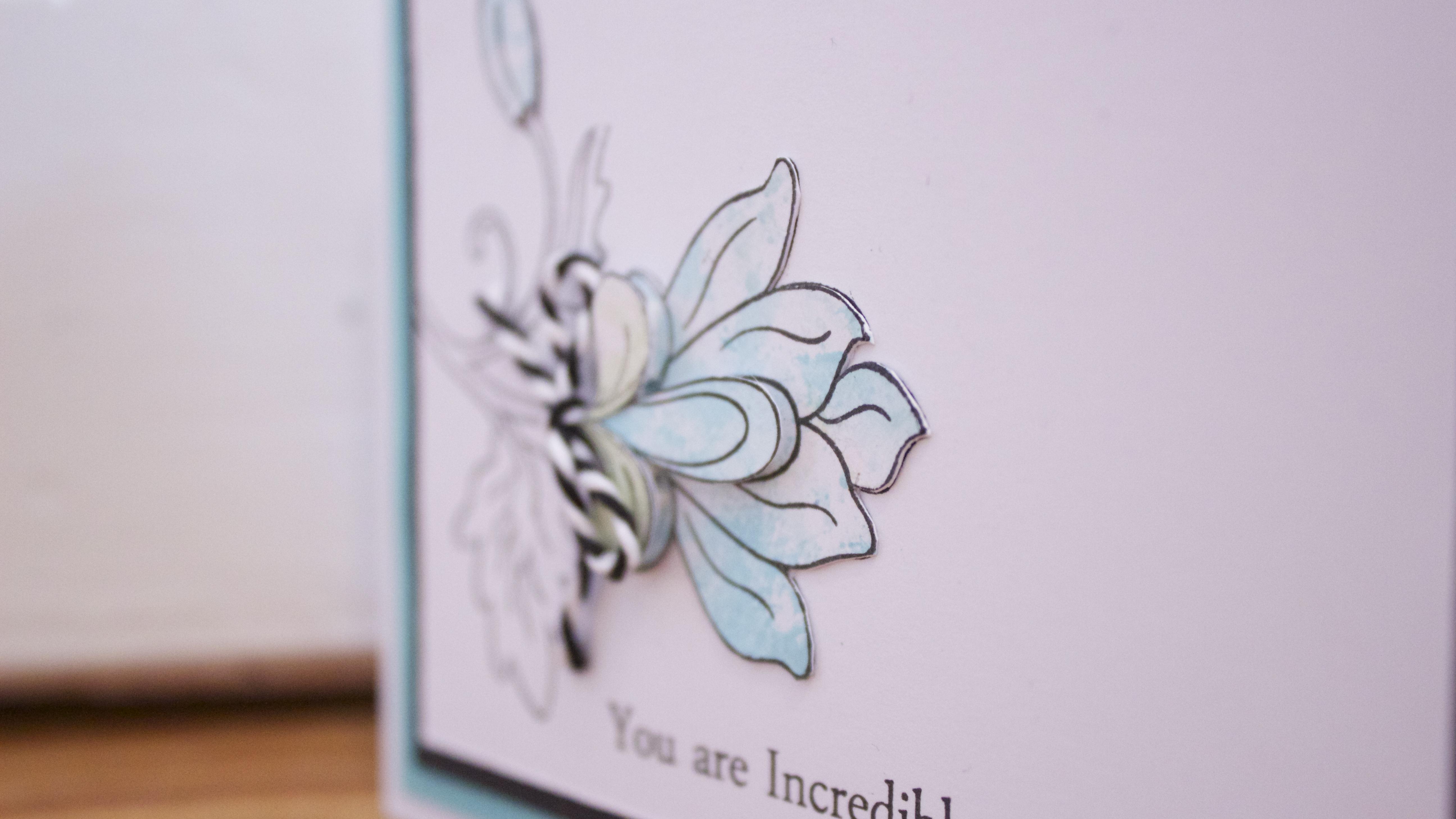 Altenew Sara Naumann paper pieced inked card